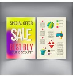 Sale Brochure Flyer design template vector