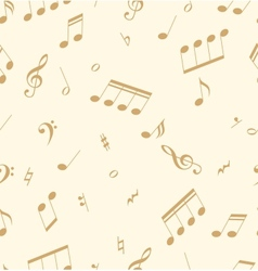 Seamless abstract pattern with music symbols vector
