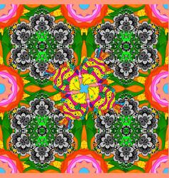 seamless pattern ethnic design marine background vector image
