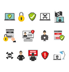 Security system icon set design vector