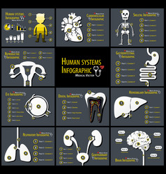 set human systems infographics vector image