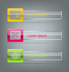 Set of banners on grey background vector