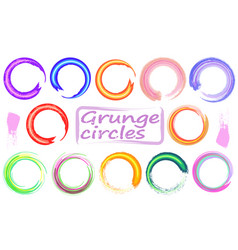 set of empty scribble circles design elements vector image