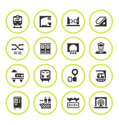 set round icons subway vector image