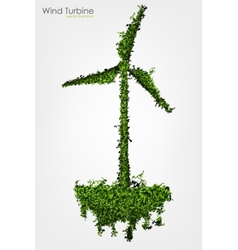 Simple Grass Covered Wind Turbine vector image