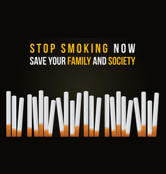 Stop smoking banner no tobacco day collection vector