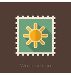 Sun flat stamp Meteorology Weather vector
