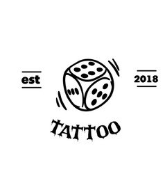 tattoo dice tattoo design background image vector image