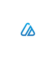 triangle line design company logo vector image