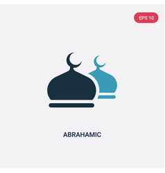Two color abrahamic icon from religion concept vector