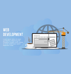 web development concept design template vector image