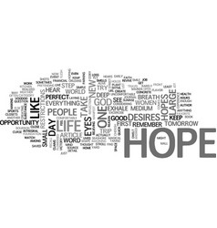 What do you hope for in your life text word cloud vector