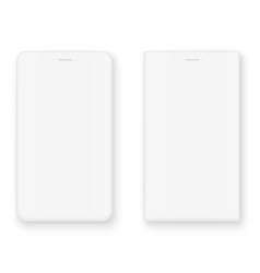 white smart phone mockup front view vector image