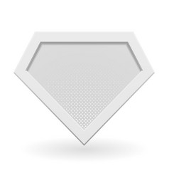 White superhero logo template vector