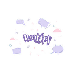 workshop template vector image