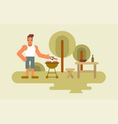 barbecue man vector image