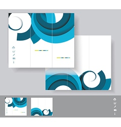 Brochures with blue circles WT vector image vector image