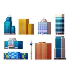 Colorful modern buildings set vector