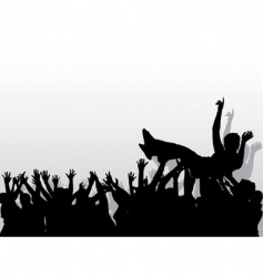 crowd vector image vector image