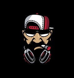 hiphop mascot vector image