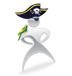 metallic pirate character vector image