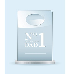 number one dad award vector image vector image