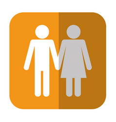 Pictogram couple icon vector