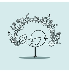 cute birds design vector image