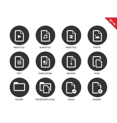 File icons on white background vector image vector image