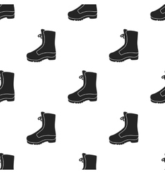 Combat boot icon in black style isolated on white vector image