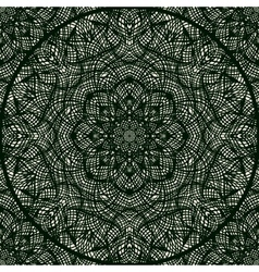 Lace pattern with thin elegant lines vector image