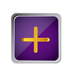 Button volume plus with background purple vector