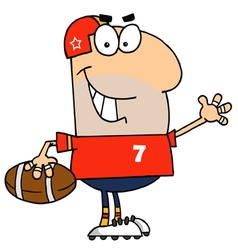 Caucasian Cartoon Football Man vector image vector image