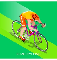 Cycling Road 2016 Summer Games 3D Isometric vector image vector image