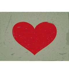 Heart sign grunge background vector image