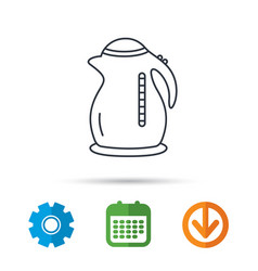 kettle icon kitchen teapot sign vector image
