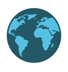 planet map icon vector image