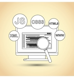 Responsive web design vector image vector image
