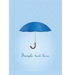 umbrella card vector image vector image