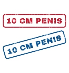 10 cm Penis Rubber Stamps vector