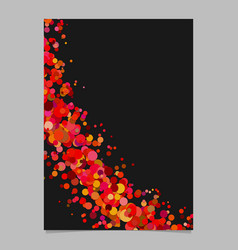Abstract blank curved confetti brochure vector