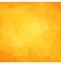 Abstract yellow geometric triangle background vector image