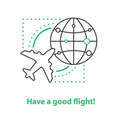 airport service concept icon vector image