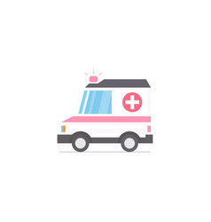 ambulance car stylized flat icon vector image