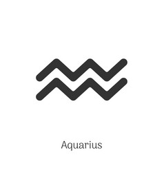 aquarius zodiac sign isolated on white background vector image