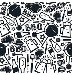 Barbecue seamless pattern vector image