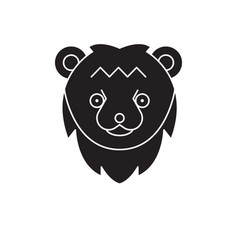 bear head black concept icon bear head vector image