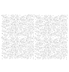 Beautiful White Wallpaper with Leaves Pattern vector image
