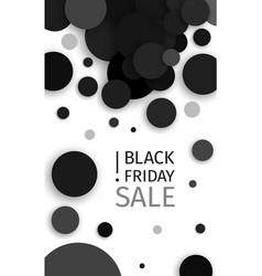 black friday sale black confetti banner ad vector image