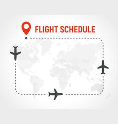 blank flight schedule border frame on vector image